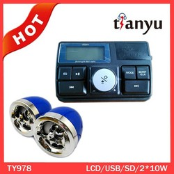 TY-978 LED display motorcycle fm radio mp3 system