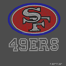custom iron on transfer 49ers rhinestone transfer hot fix garment accessories