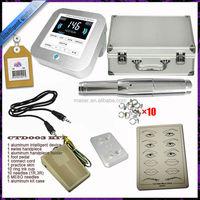 Swiss motor permanent make up machine power supply needles pedal permanent makeup digital machine kit