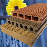 Hot selling wpc deck tile wpc hollow Decking wpc decking with low price