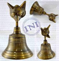 Animal Face Antique Brass Hand Bell, Full Brass Hand Bell, Classical Marine Hand Bell