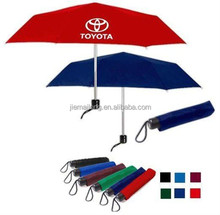 "2015 HOT colorful promotion gift 3 folding umbrella 21.5""""x8k 3 folds manual Pongee solid color with EVA BOX pocket umbrella"