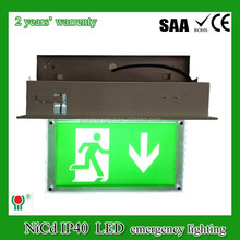 ce rohs SAA 20 years experience exit sensing direction sign light led lamp