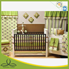green bubbles print baby comforter set