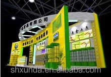 wooden display stand with permeability for exhibition booth