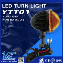 Y&T YTT01 Motorcycle Universal Double lamp 17* LED Turn Signals Indicators Lights Blinker for BMW, Yamaha, Kawasaki