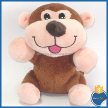 13cm promotional stuffed children toys forest animal soft baby plush love doll big mouth monkey