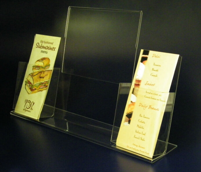 high quality clear acrylic table stand menu holder/acrylic plastic menu holder wholesale