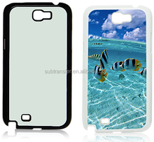 Black or Customized Color Plastic Cell Phone Sublimation Case for Galaxy Note 2 N7100