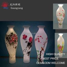 plastic beautiful vase china hot sell vase for hotel