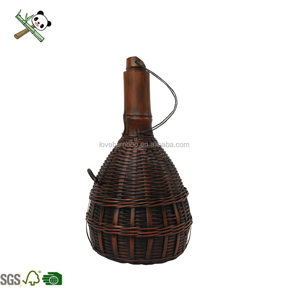 全く竹手織りレトロ装飾ラッキー竹植木鉢
