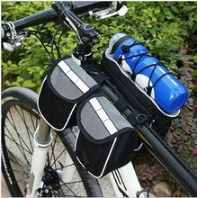 double bike front bag with many pockets