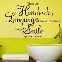 ZOOYOO smile speaks hundreds of languages stickers smile is all wall stickers sweet smile wallpapers (8165)