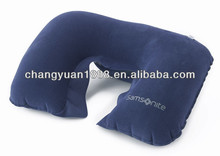 Hot sale good quality fashion popular pvc flocking travel air pillow
