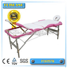 Adjustable aluminium massage bed for beauty salon