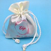 New Style Most Popular Samll Drawstring Satin Pouch For Gift Packaging