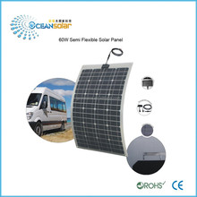 CE and Rohs approved 60w flexible solar panel with solar cells wholesale for residential on grid solar energy systems