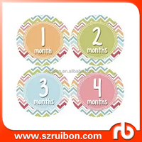 Months in motion baby monthly sticker baby girl/boy monthly age stickers