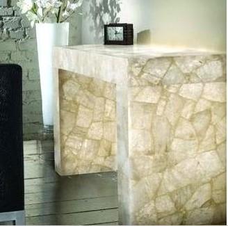 natural quartz crystal stone backlit tileslab for