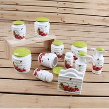 Decorative kitchen ceramic cookie jar, storage jar