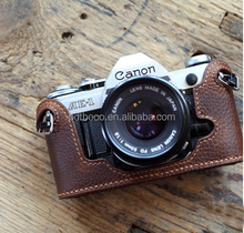 2015 Hot Sale brown color Shockproof fashion Camera case for Canon