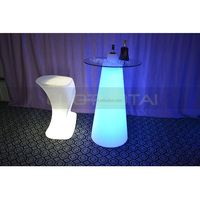 2015 Fashion waterproof remote Control rechargeable LED tea/coffee/cocktail table with glass pannel