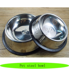 Pet dog stainless steel bowl, wholesale steel pet bowl, dog stainless bowl