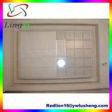 LXG1102 Gold Artistic Style 60*30cm Parten Clip-in Livin Room Metal Ceiling decorative ceiling wall for banquet hall