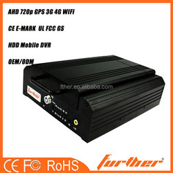 4 Channels 720P AHD High Definition Hybrid Hard Disk Mobile NVR POE 12V motorcycle black box