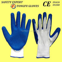 Hot! Hot!Hot!10 gauge acrylic terry liner with foam latex working safety glove