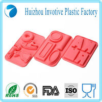 McDonald Supplier FINE3075 Non-toxic FDA Standard Pink Silicone Mini Alphabet Ice Cube Tray