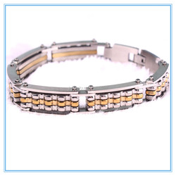 Wholesale Hockey Gifts Classic Design Punk Jewelry Stainless Steel Bracelet