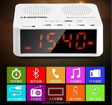 2015 NEW bluetooth speaker with alarm clock 3.5 inch LED digital mp3 music player AUX audio 3.5mm earphone jack input BC-01