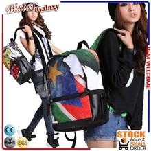 "BBP126 17"" polyester material school travel bags waterproof backpack with american flag"