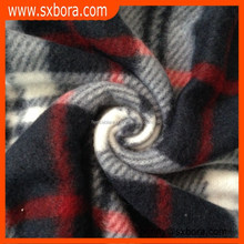 Factory selling check pattern printed polar fleece fabric with best price and high quality