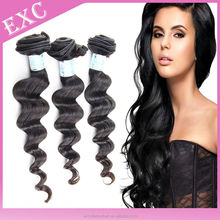 Beautiful virgin peruvian hair loose wave hair extension,accept paypal&escrow