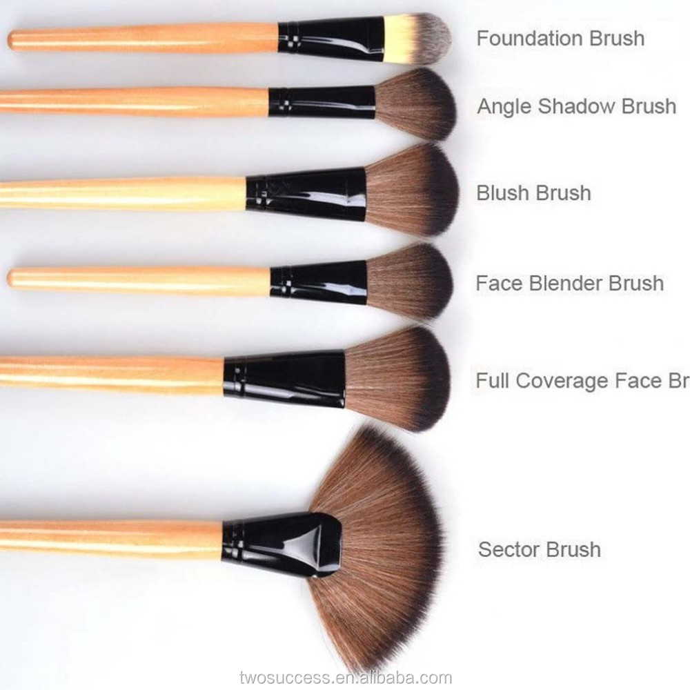 NEW Pro 24 Pcs Makeup Brush Cosmetic Tool Kit Eyeshadow Powder Brush Set + Case