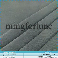 good quality 95%nylon and 5%spandex knitted plain fabric for garment