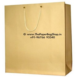 Custom golden craft shopping paper bag wholesale