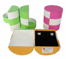 luxury hand made custom folding box & rotating paper jewelry box packaging