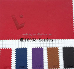 Made in china pu factory cross pattern color change pu leather