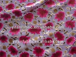 burnout Velvet fabric discharge printing