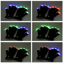 led gloves as gifts/Fashion black led glitter gloves,led magic gloves ,led finger glove manufacturer
