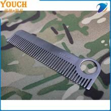 2015 aço inoxidável cabelo pente de aço inoxidável pente de metal pentear o cabelo pente de osso
