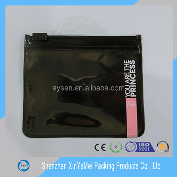 Give away dental accessories transparent Zipper lock PVC pouch