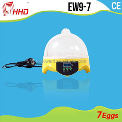 EW9-7 HHD Brand Automatic Mini incubator for sale 7 eggs incubator