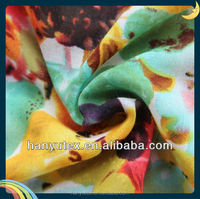 polyester voile fabric vegetable printing design
