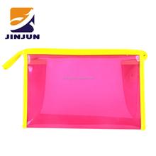 colorful women jelly handbag environmentally friendly shopping bags PVC summer beach bag beach pounch
