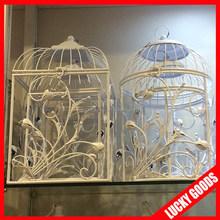 2015 latest design white wedding or shopping center decorative bird cages wholesale