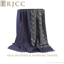 Fashion and Special Silk Scarf for Men with Napping Inside